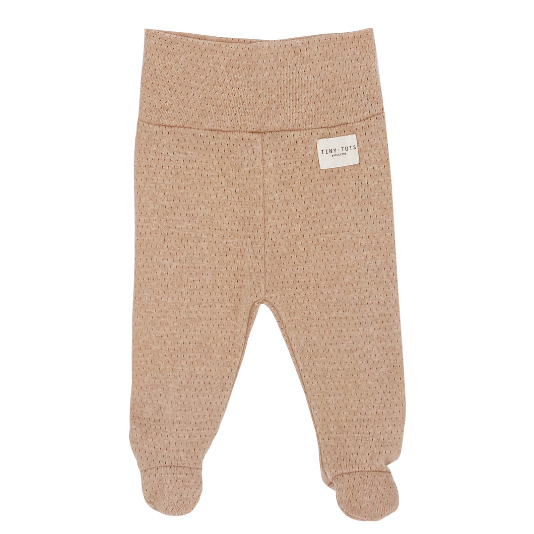 FOOTED PANTS NEWBORN | CARAMEL