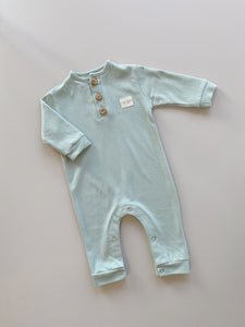 pampas grass jumpsuit - mint green