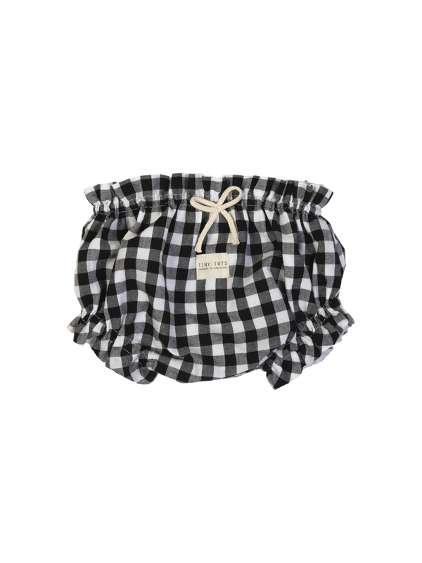 peony bloomer - checked black