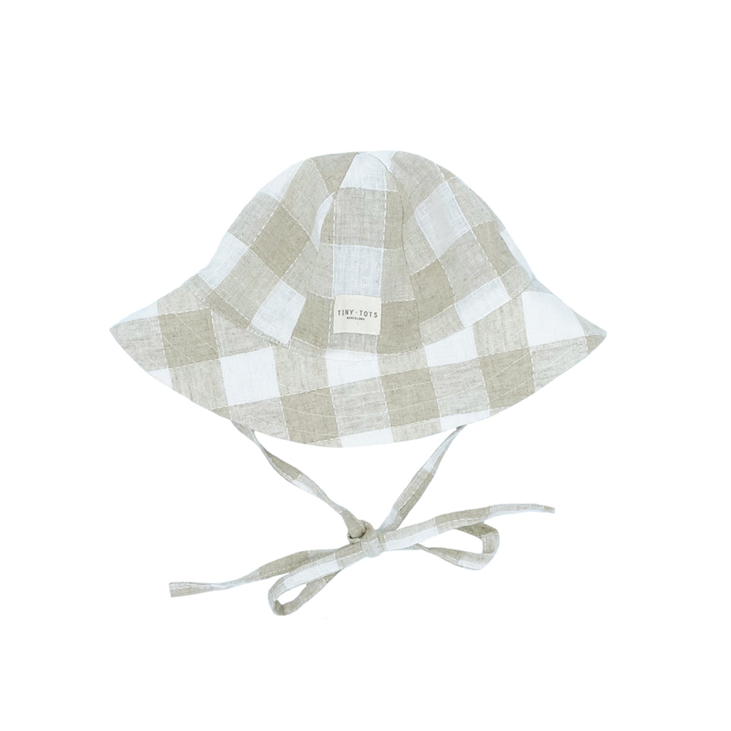 STARGRASS HAT | CHECKED LINEN SAND