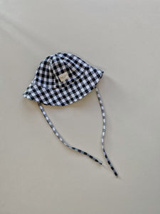 stargrass hat - checked black