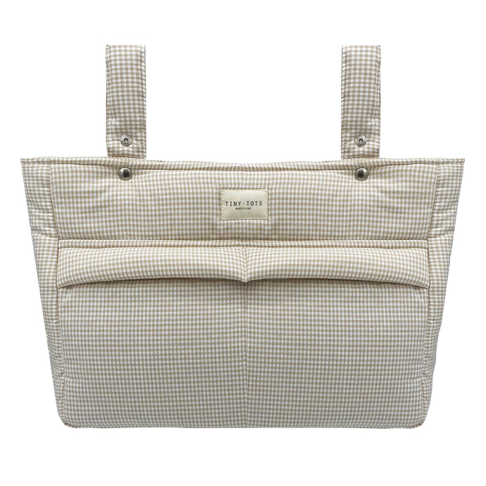 VIOLA STROLLER BAG | TINY CHECKED SAND
