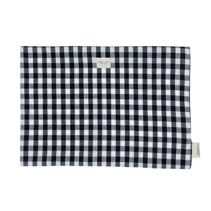 BED SHEET PROTECTOR| CHECKED BLACK