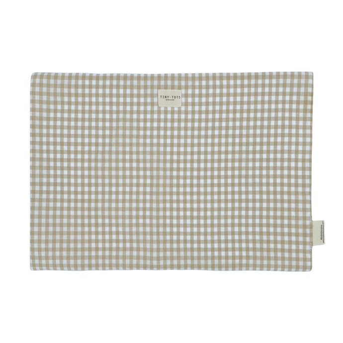 BED SHEET PROTECTOR| CHECKED SAND
