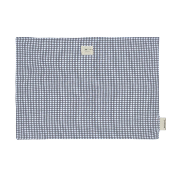 BED SHEET PROTECTOR| TINY CHECKED GREY