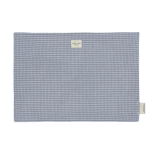bed sheet protector - tiny checked grey
