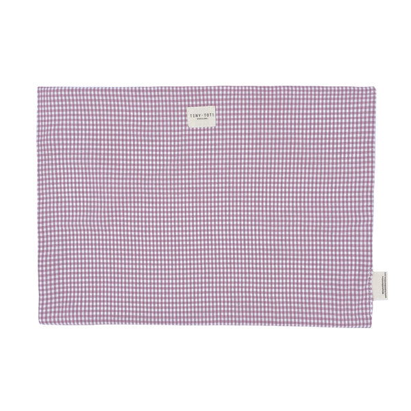 bed sheet protector - tiny checked old pink