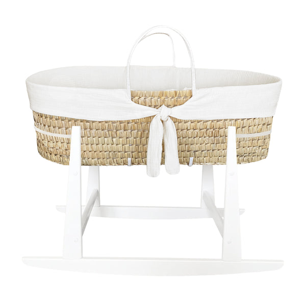 moses basket rocker - optic white