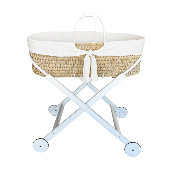 moses basket - optic white