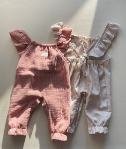 ROSE DUNGAREE | TINY CHECKED SAND