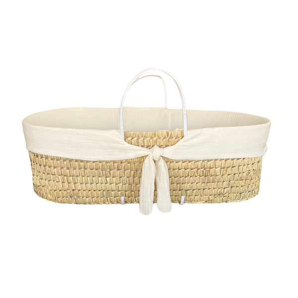 moses basket protector - whisper cream