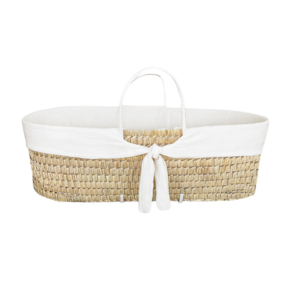 moses basket protector - optic white