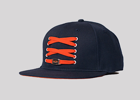 Navy Blue & Orange Fitted