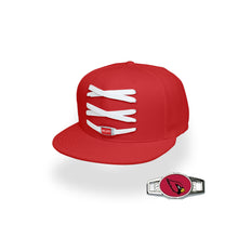 Load image into Gallery viewer, Arizona Custom Red Football Lacer Snapback Set