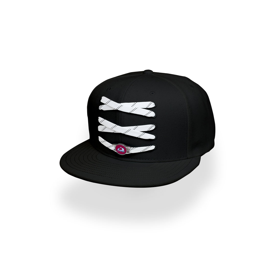 Colorado Custom Black Hockey Lacer Snapback Set