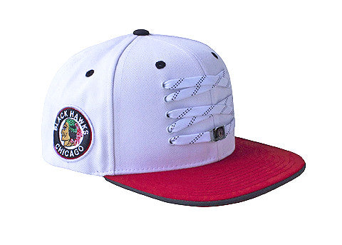 Chicago Blackhawks 'Old School' White Snapback