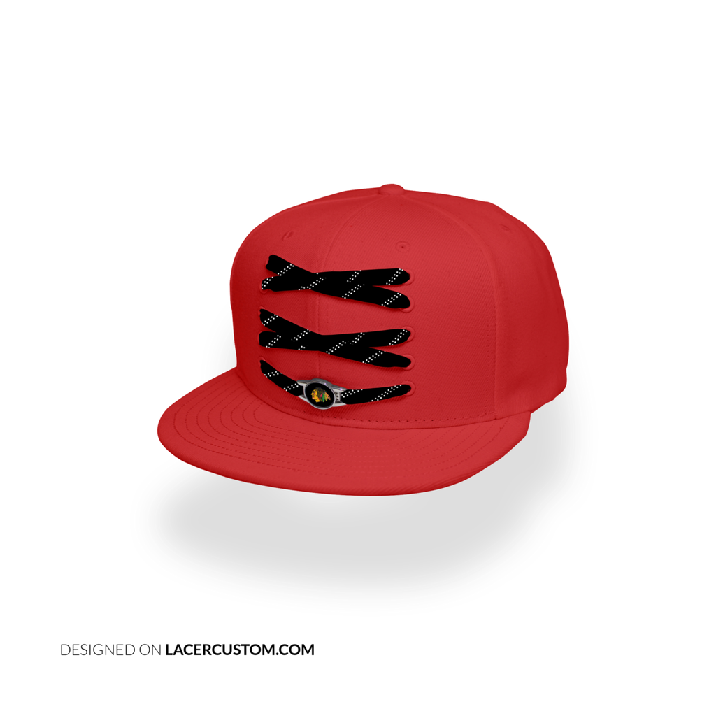 Chicago Blackhawks Custom Red Lacer Snapback Set