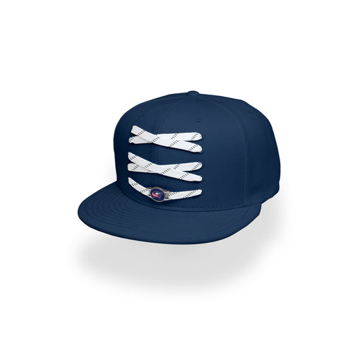 Columbus Custom Navy Hockey Lacer Snapback Set