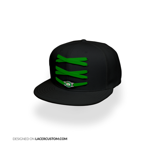 Boston Custom Black Basketball Lacer Snapback Set