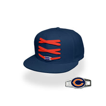Load image into Gallery viewer, Chicago Custom Navy Football Lacer Snapback Set