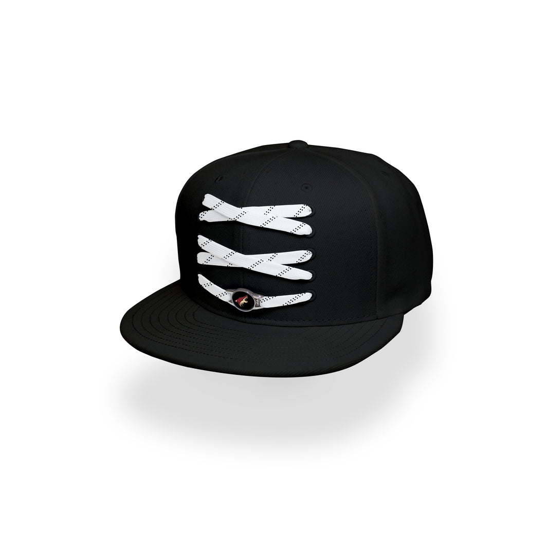 Arizona Custom Black Hockey Lacer Snapback Set
