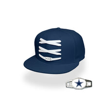 Load image into Gallery viewer, Dallas Custom Navy Football Lacer Snapback Set