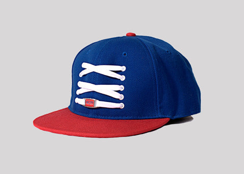 NYG Blue & Red Fitted