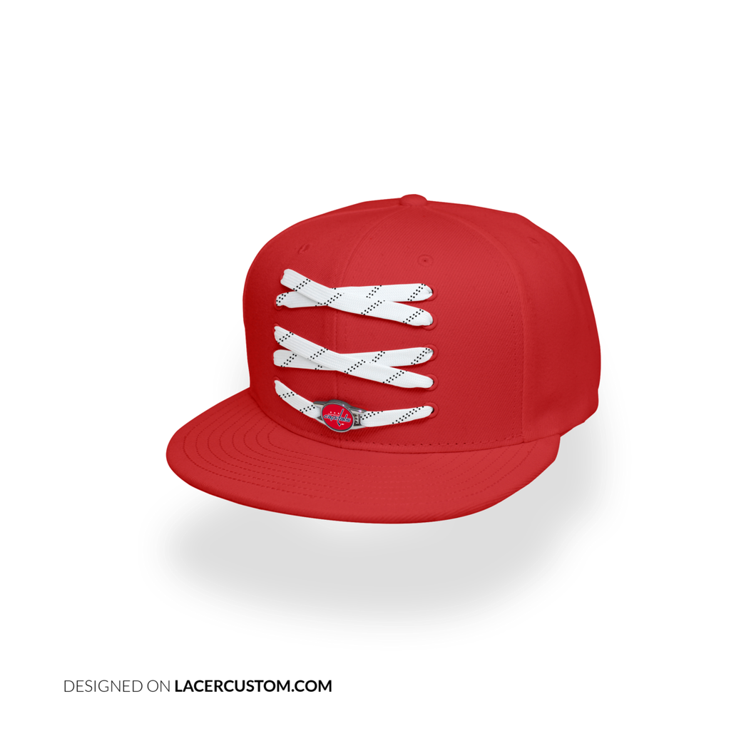 Washington Custom Red Hockey Lacer Snapback Set