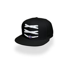 Load image into Gallery viewer, New York Custom Black Hockey Lacer Snapback Set