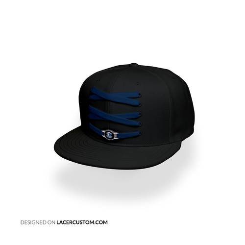 Dallas Custom Black Basketball Lacer Snapback Set