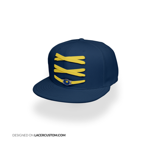 Indiana Custom Navy Basketball Lacer Snapback Set
