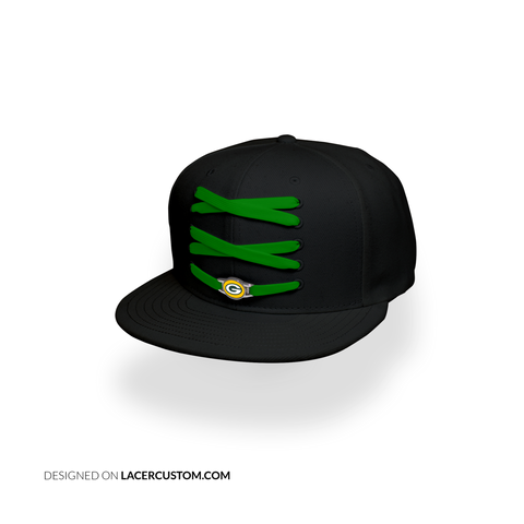 Green Bay Packers Custom Black Lacer Snapback Set