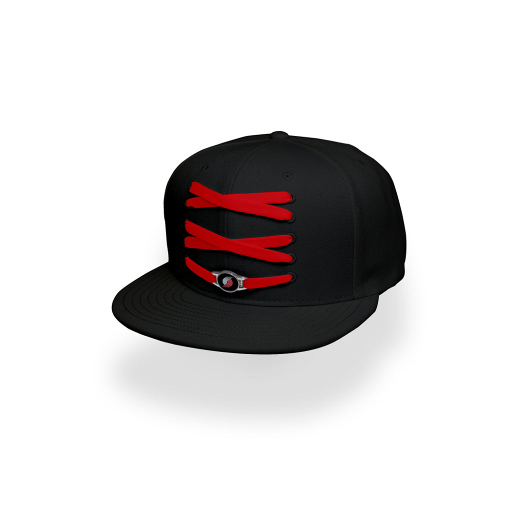 Portland Custom Black Basketball Lacer Snapback Set