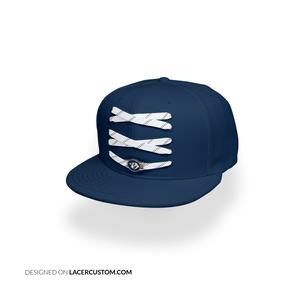 Nashville Custom Navy Hockey Lacer Snapback Set