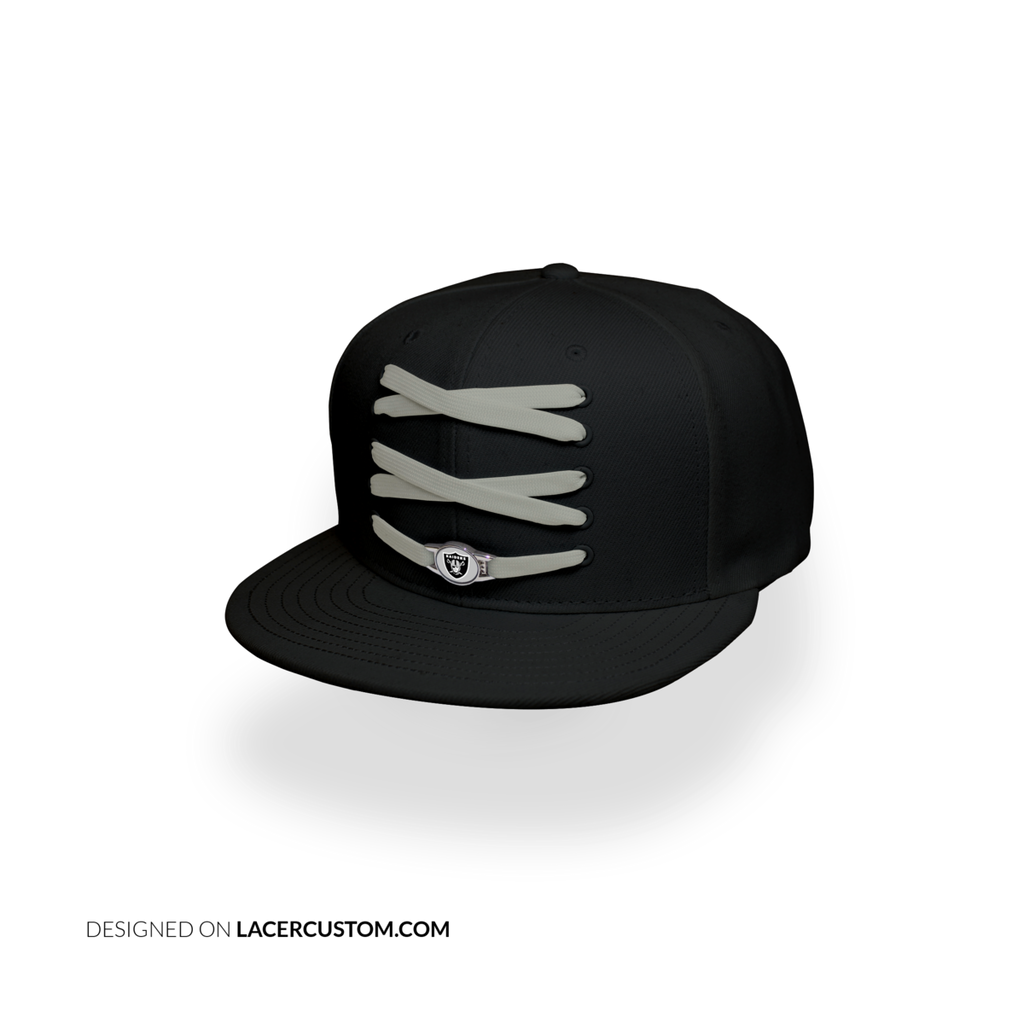 Oakland Raiders Custom Black Lacer Snapback Set