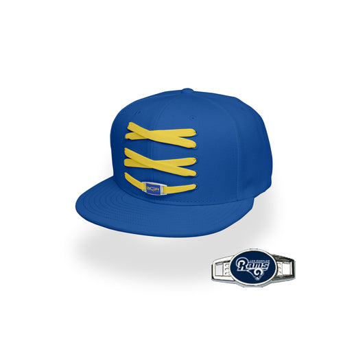 Los Angeles Custom Royal Football Lacer Snapback Set