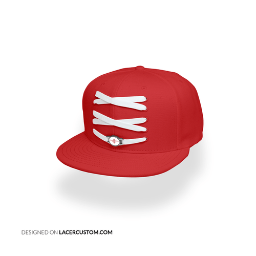 Houston Custom Red Basketball Lacer Snapback Set