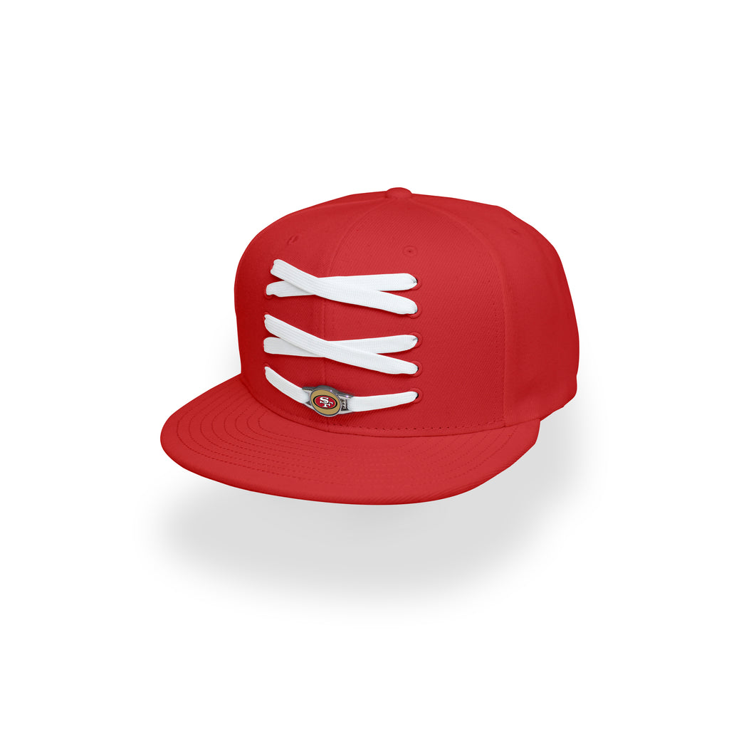 San Francisco 49ers Custom Red Lacer Snapback Set