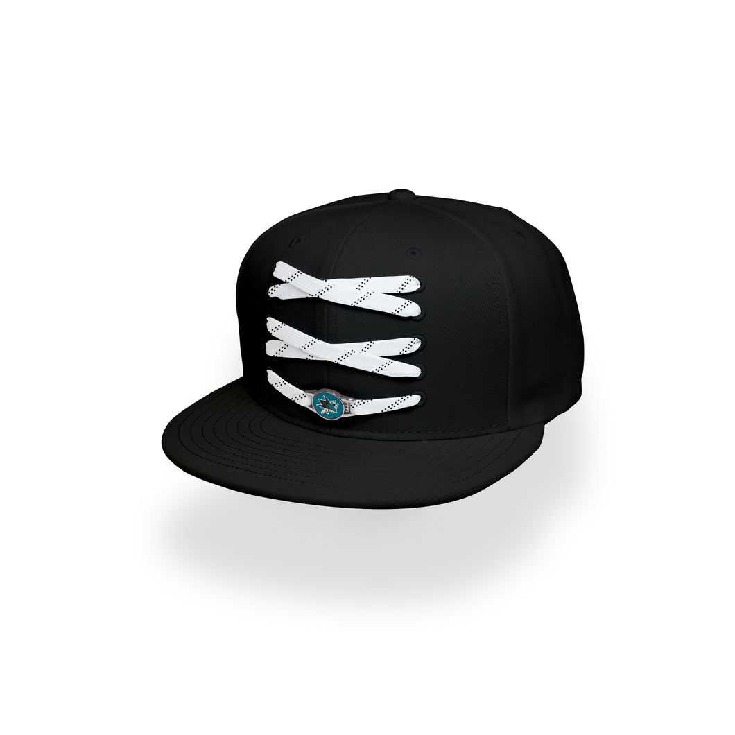 San Jose Custom Black Hockey Lacer Snapback Set