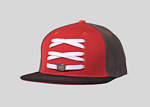 Charcoal & Red Fitted