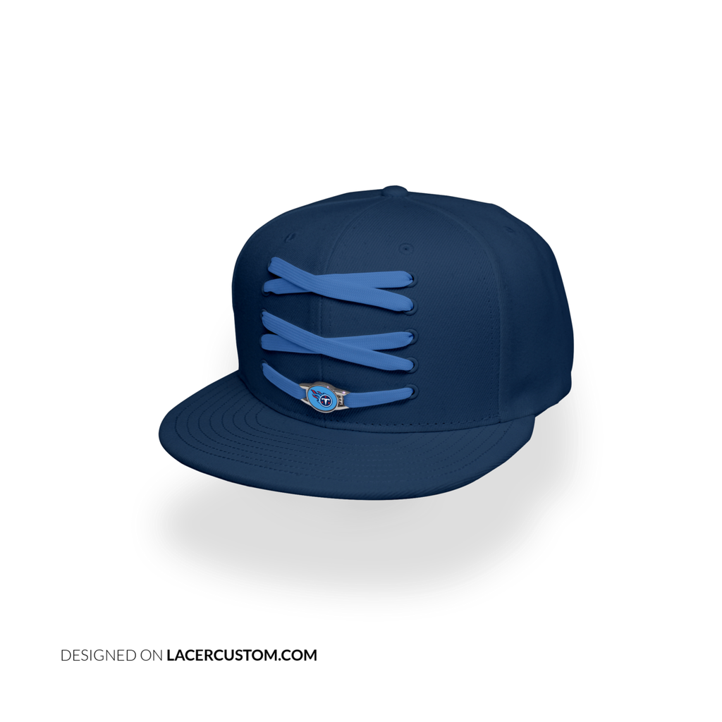 Tennessee Titans Custom Navy Lacer Snapback Set