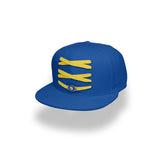 Golden State Custom Royal Basketball Lacer Snapback Set