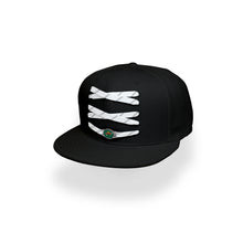 Load image into Gallery viewer, Minnesota Custom Black Hockey Lacer Snapback Set