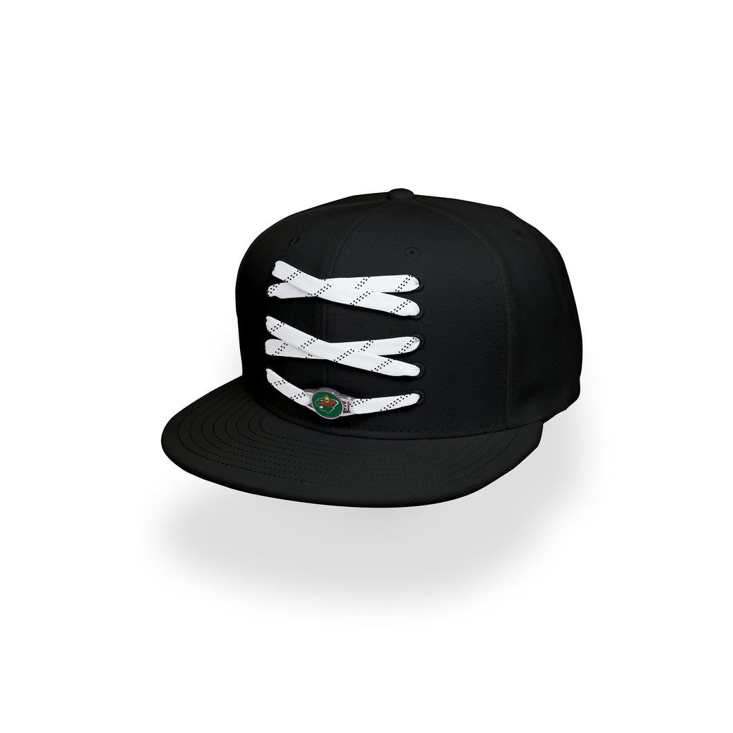 Minnesota Custom Black Hockey Lacer Snapback Set