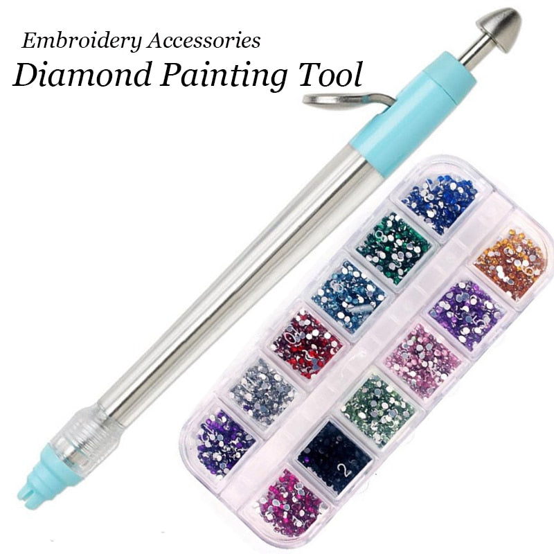 thanksky DIY Embroidery Pens,5D Diamond Painting Pen Rose red Embroidery Tool Painting Cross Stitch Accessories Sewing Crafts 1PC
