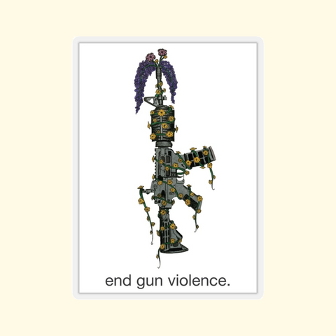 end gun violence sticker