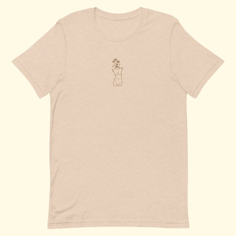 "neutral ""growth"" embroidered t-shirt"