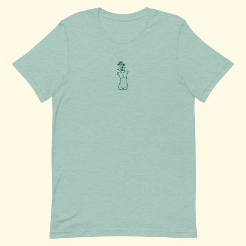 "minty ""growth"" embroidered t-shirt"