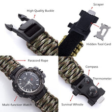 Load image into Gallery viewer, Paracord Survival Watch