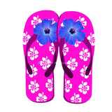 Pink flip Flops with flower